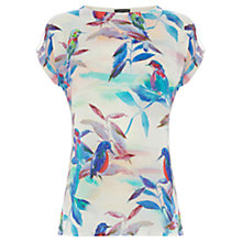 Buy Warehouse Tropical Bird Print T-Shirt, Multi Online at johnlewis.com