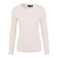 Buy Viyella Petite Lace Front Top, Powder Pink Online at johnlewis.com