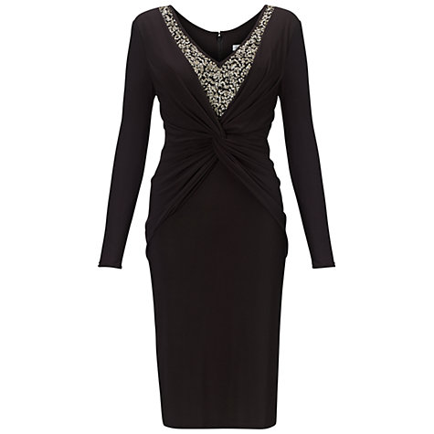 Buy Gina Bacconi Sequin Jersey Dress, Black/Gold Online at johnlewis.com