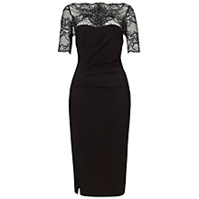 Buy Gina Bacconi Double Knit Power Stretch Dress, Black Online at johnlewis.com