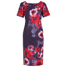 Buy Jacques Vert Blurred Floral Print Dress, Purple Online at johnlewis.com