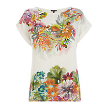 Buy Warehouse Tropical Placement Print T-Shirt, Multi Online at johnlewis.com