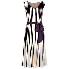 Buy Jacques Vert Banded Chiffon Dress, Purple Multi Online at johnlewis.com