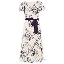 Buy Jacques Vert Linear Rose Dress, Powder Puff Online at johnlewis.com