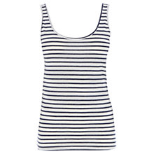 Buy Warehouse Stripe Scoop Vest, Blue Stripe Online at johnlewis.com