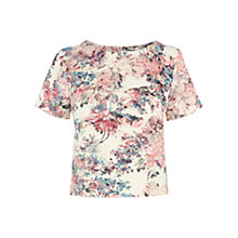 Buy Warehouse Scuba Floral Print Top, Multi Online at johnlewis.com