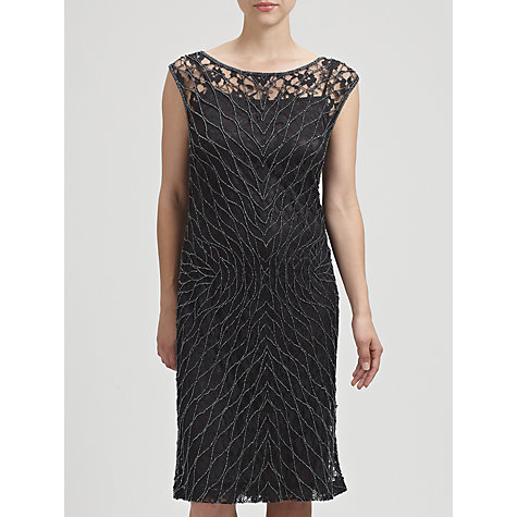 Buy Gina Bacconi Beaded Lace Dress, Black Online at johnlewis.com