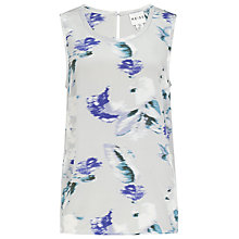 Buy Reiss Constance Printed Silk Shell Top, Grey/Blue Online at johnlewis.com