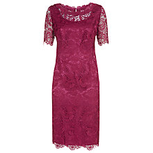 Buy Jacques Vert Luxury Lace Dress, Rose Hip Online at johnlewis.com