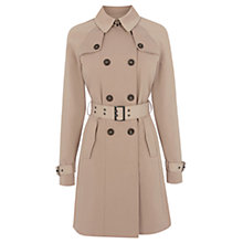 Buy Warehouse Stud Belted Mac, Beige Online at johnlewis.com