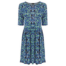 Buy Warehouse Blurred Floral Print Day Dress, Multi Online at johnlewis.com