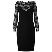 Buy Gina Bacconi Pintuck Jersey Dress, Black Online at johnlewis.com
