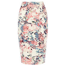 Buy Warehouse Scuba Floral Print Skirt, Multi Online at johnlewis.com