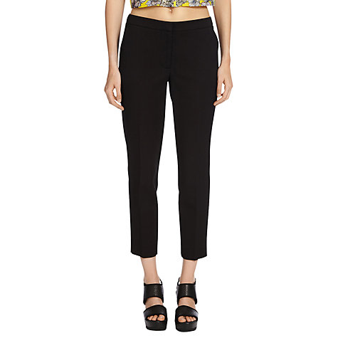 Buy Warehouse Jacquard Trousers, Black Online at johnlewis.com