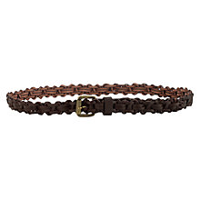 Buy Jigsaw Woven Jeans Belt, Chocolate Online at johnlewis.com