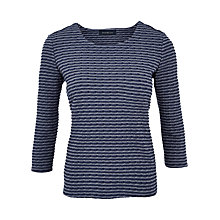 Buy Viyella Textured Stripe Top, Denim Online at johnlewis.com