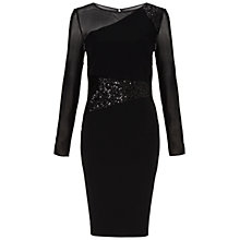 Buy Gina Bacconi Moss Crepe Dress, Black Online at johnlewis.com