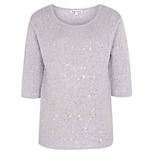 Buy Reiss Rocky Sequined Jumper, Frost Online at johnlewis.com