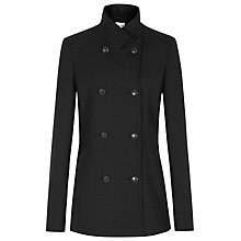 Buy Reiss Climens Slim Fitting Double Breasted Wool Blend Pea-coat, Black Online at johnlewis.com