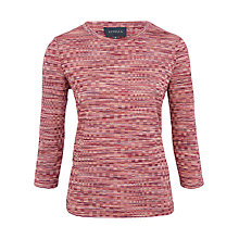 Buy Viyella Space Dye Top, Pink Online at johnlewis.com