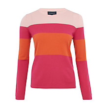 Buy Viyella Colour Block Jumper, Geranium Online at johnlewis.com