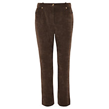 Buy Viyella Petite Straight Trousers, Bitter Chocolate Online at johnlewis.com