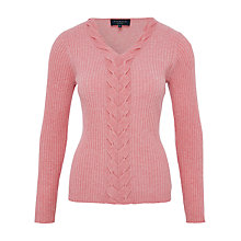 Buy Viyella Petite Cable Front Jumper, Strawberry Online at johnlewis.com
