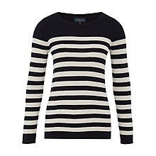 Buy Viyella Breton Stripe Jumper, Navy Online at johnlewis.com