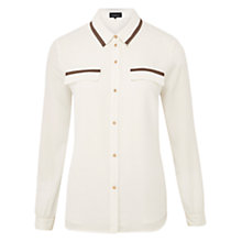 Buy Viyella Tipped Chiffon Blouse, Ivory Online at johnlewis.com