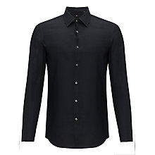 Buy BOSS Jacob Long Sleeve Shirt, Black Online at johnlewis.com