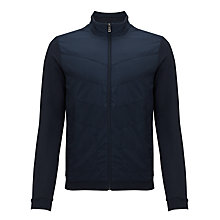 Buy BOSS Pizzoli Full Zip Jersey, Navy Blue Online at johnlewis.com
