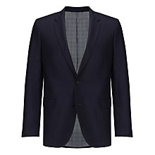 Buy BOSS The Keys Tonal Diamond Suit Jacket, Dark Blue Online at johnlewis.com