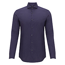 Buy BOSS Dwayne Circle Print Long Sleeve Shirt, Purple Online at johnlewis.com