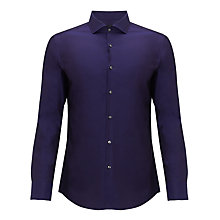 Buy BOSS Jason Fine Twill Shirt, Purple Online at johnlewis.com