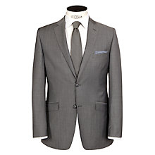 Buy Daniel Hechter Contrast Twill Tailored Suit Jacket, Grey Online at johnlewis.com