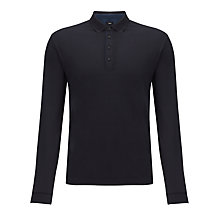 Buy BOSS Ravenna Long Sleeve Polo Shirt, Navy Online at johnlewis.com