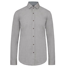 Buy BOSS Mason Long Sleeve Shirt, Grey Online at johnlewis.com