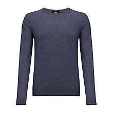 Buy BOSS Tomasso Crew Neck Jumper, Blue Online at johnlewis.com