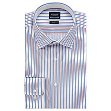 Buy Hackett London Bold End On End Stripe Shirt, Blue/White Online at johnlewis.com