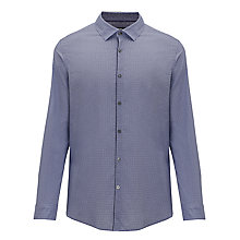 Buy BOSS Maik Print Long Sleeve Shirt, Lilac Online at johnlewis.com