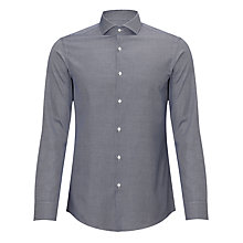 Buy BOSS Jaiden Diamond Dobby Shirt, Navy Online at johnlewis.com