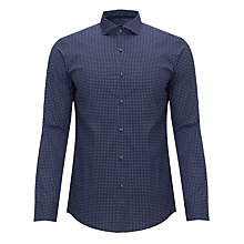 Buy BOSS Foulard Print Long Sleeve Shirt, Navy Online at johnlewis.com