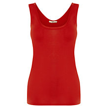 Buy Oasis Scoop Back Double Trim Vest Top Online at johnlewis.com