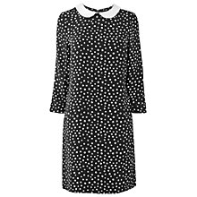 Buy Phase Eight Angelina Spot Dress, Black/Ivory Online at johnlewis.com