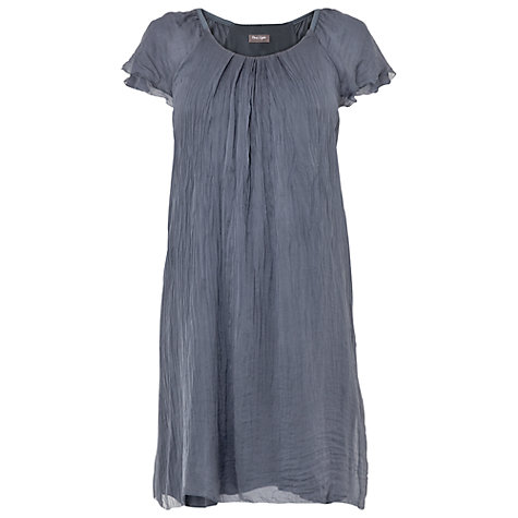 Buy Phase Eight Eloise Silk Frill Dress, Airforce Online at johnlewis.com