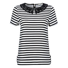 Buy Oasis Stripe T-Shirt, Black/White Online at johnlewis.com