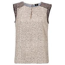 Buy Oasis Tweed Geo Print Shell Top, Multi Online at johnlewis.com