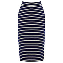 Buy Oasis Stripe Skirt, Multi Blue Online at johnlewis.com