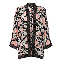 Buy Oasis Painted Rose Kimono, Multi/Black Online at johnlewis.com