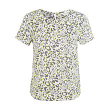 Buy Miss Selfridge Animal T-Shirt, Fluorescent Yellow Online at johnlewis.com